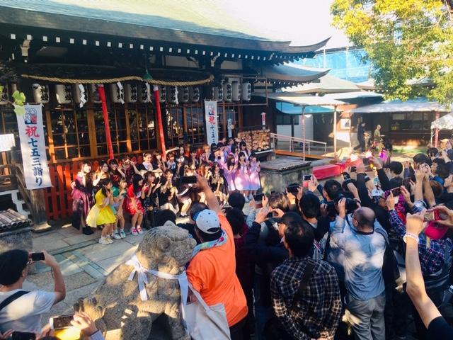 吹田市旭通商店街、高浜神社でのコスプレイベント