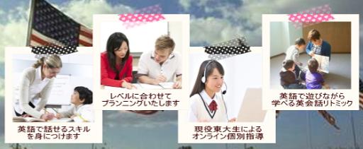 吹田市旭通商店街にある英会話教室、ハイ・フレンズ英会話スクールのイメージ